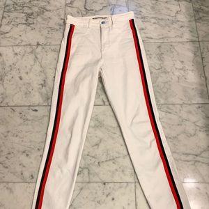 White Zara pants